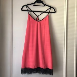 Lace Hem Strap Dress